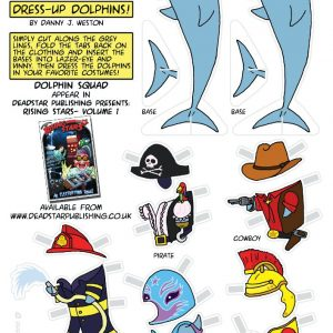 Dress Up Dolphin Cut-Out-And-Play Sheet