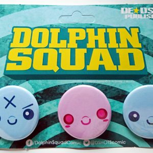 Dolphin Squad Kawaii Badge Pack