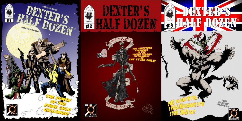 Original covers for the first arc of Dexter's Half Dozen