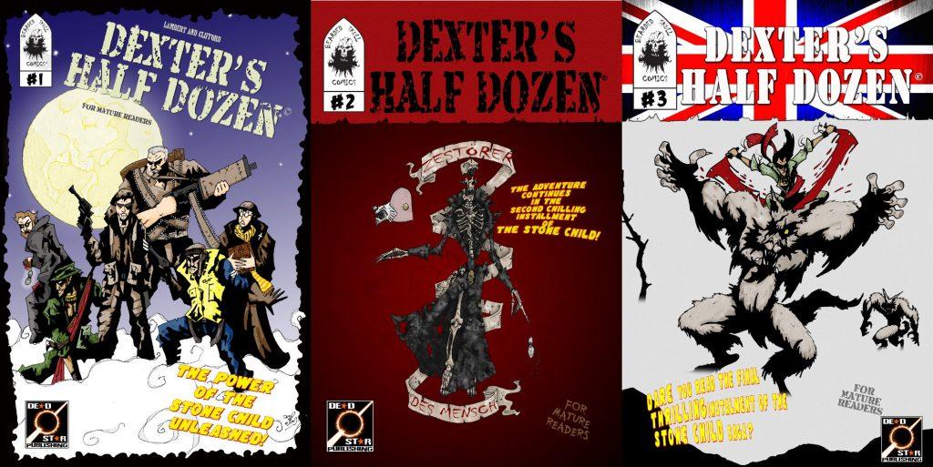 Original covers for the first arc of Dexter's Half Dozen