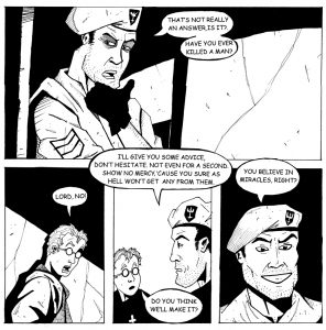 Original artwork from issue 1 of Dexter's Half Dozen