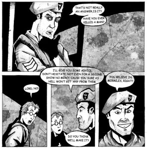 Updated but corrupted image from issue 1 of Dexter's Half Dozen