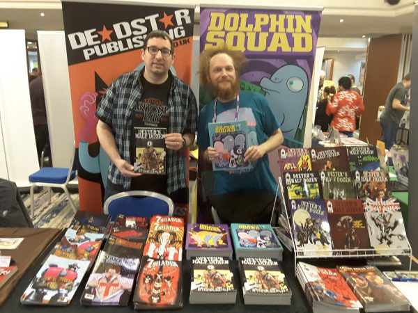 Jamie Lambert and Danny J. Weston at True Believers Comic Festival 2019