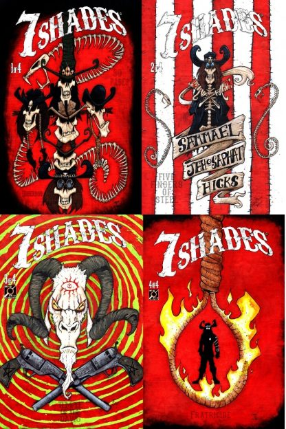 All covers for the first arc of 7 Shades