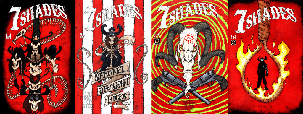 All covers for 7 Shades first miniseries