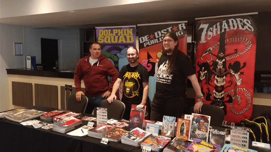 Peter Rogers, Dave Clifford and Kevin at ICE Birmingham Sept 2018